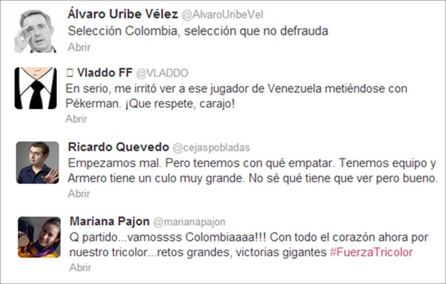La Selección Colombia también juega en las Redes Sociales  (3/4)