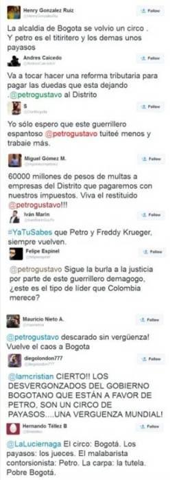 Tweets sobre Restitución de Gustavo Petro